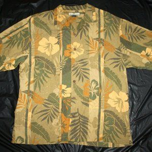 Tommy Bahama Mens Short Sleeve Button Front Silk F